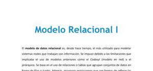 Modelo relacional I - Informática - Grado