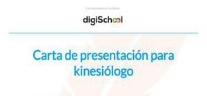 Ejemplo carta de presentación kinesiólogo