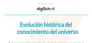 Evolución histórica del conocimiento del universo - Ciencias naturales - 1 de ESO