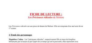 Fiche de Lecture : Les Précieuses ridicules de Molière