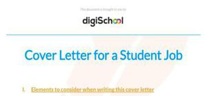 Student cover letter sample