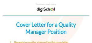 Quality manager cover letter example