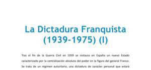 La dictadura franquista - Historia - 2 de bachillerato