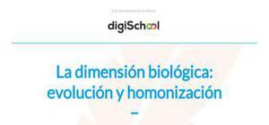 La dimensión biológica, evolución y homonización - Filosofía - 1 de bachillerato