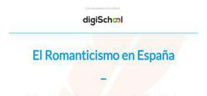 El romanticismo en España - Lengua y literatura - 2 de Bachillerato