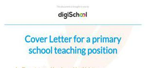 Primary school teacher cover letter example
