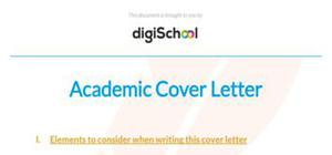 Academic cover letter template