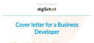 Business developer cover letter sample