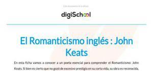 El Romanticismo inglés - Literatura - 2 de Bachillerato