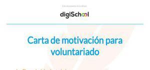 Carta de motivación para voluntariado