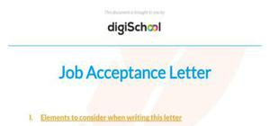 Sample job acceptance letter