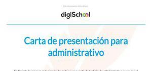 Carta de presentación para administrativo