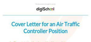Cover letter for an air traffic controller position