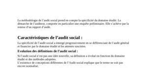 les methodes de l'audit social