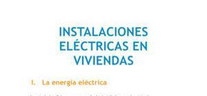 Instalaciones eléctricas en viviendas - Tecnología - 1 ESO