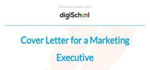 Cover letter for a marketing executive