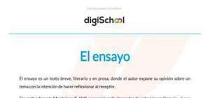 El ensayo - Literatura - 4 ESO