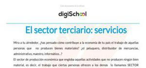 El sector terciario - Geografía - 2 Bachillerato