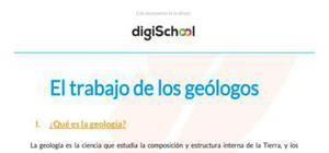 El trabajo de los geólogos - Geología - 2 Bachillerato