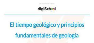 El tiempo geológico y principios fundamentales de geología - 2 Bachillerato