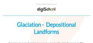 Glaciation and depositional landforms - Geography - AS level