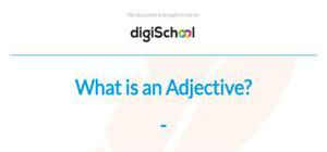 What is an adjective - English language - GCSE
