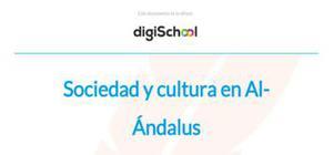 Sociedad y cultura en Al-Ándalus - Historia - 2 Bachillerato
