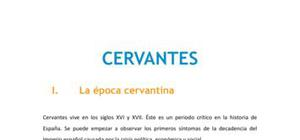 Cervantes - Literatura - 1 Bachillerato