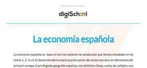 La economía española - Geografía - 2 Bachillerato