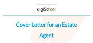 Cover letter for an estate agent