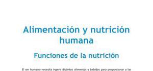 Las funciones de la nutrición - Biología - 4 ESO