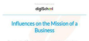 Influences on the mission of a business - Business Studies - A Level
