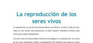 La reproducción de los seres vivos - Biología - 4 ESO