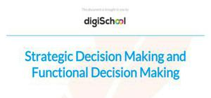 Strategic and functional decision making - Business Studies - A Level