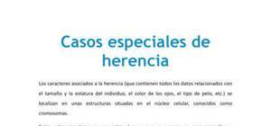 Casos especiales de herencia - Biología - 4 ESO