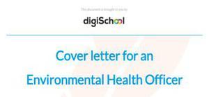 Cover letter for an environmental health officer position
