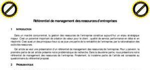Référentiel de management des ressources pour les entreprises