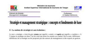 strategie et management strategique
