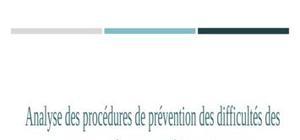 Analyse des procédures de prévention des difficultés des entreprises en droit comparé franco marocain