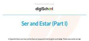 How to use Ser y Estar - Spanish - GCSE