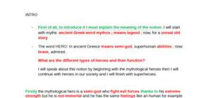 oral bac anglais myths and heroes
