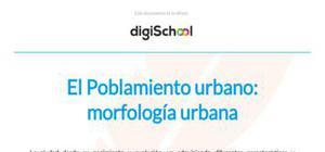 La morfología urbana - Geografía - 2 Bachillerato