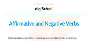 Affirmative and negative verbs - Spanish - GCSE