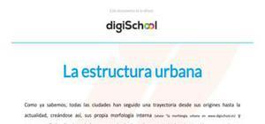La estructura urbana - Geografía - 2 Bachillerato