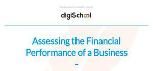 Assessing the financial performance of a business - Business Studies - A Level