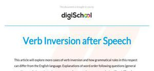 Verb inversion after speech - French - A level