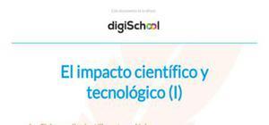El impacto científico y tecnológico - Historia - 1 Bachillerato