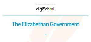 The Elizabethan government - History - GCSE