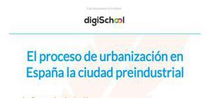 El proceso de urbanización - Geografía - 2 Bachillerato