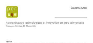Apprentissage technologique et innovation en agro-alimentaire